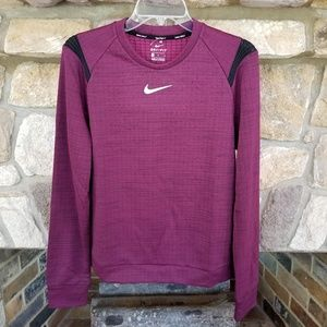 Nike Golf Therma Sphere Shirt Large Bordeaux